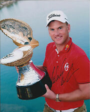 Robert KARLSSON SIGNED Autograph 10x8 Photo AFTAL COA Dubai World Champion GOLF