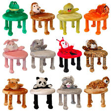 Tiermotive Kinderhocker Kinderstuhl Hocker Kinder Tiere Sitz Kindersitz PLÜSCH