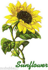 SUNFLOWER SINGLE SET OF 2 BATH HAND TOWELS EMBROIDERED BY LAURA