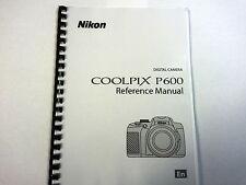 Nikon Coolpix P600 Manual de instrucciones impreso Guía de usuario 236 Páginas