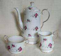 Spode Princess House Hammersley Coffee Pot Sugar Creamer Bone China England (R4)