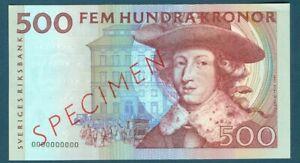 Sweden Specimen 500 Kronor 1994 Pick 59bs