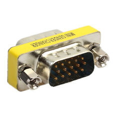 15 Pin D-Sub PC VGA SVGA Gender Changer Adaptor Connector Coupler Male to Female