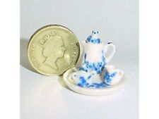 Dollhouse Miniature 1:24 Scale China Coffee Set Blue and White - Imported