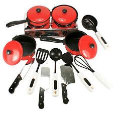 New Children Kitchen Appliance Preschool Cooking Play Toy Set Pots Pans 13PCs