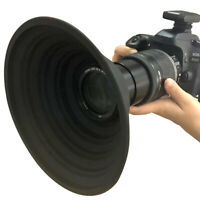 Ultimate Anti-Glass Reflection Silicone Lens Hood For Camera Photo Lens 58-77Mm