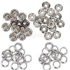 """50 Sets Metal PRESS STUDS SNAP POPPER Snaps Fasteners Open Ring 7/16"""" Sewing"""