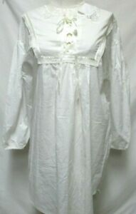 Gilligan O'Malley Vintage Nightgown dress w/Lace Cotton NEW NWT Size Medium Md M