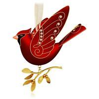 2015 Hallmark RUBY RED CARDINAL Premium Ornament BEAUTY OF BIRDS