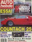 AUTO HEBDO 654 / 7 DEC 88 : LAMBORGHINI COUNTACH P 140 MERCEDES 190 E