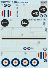 Print Scale Decals 1/72 Wet Decals - Bristol F.2B Fighter Aces of WWI