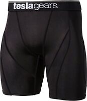 Mens Plazma Skin Black Tight Shorts Compression Pants Under Layer Body Armour