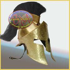 300 Movie Helmet w/ Leather Liner, Spartan King Leonidas Helmet Knight Costume