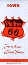 1957 Phillips Road Map: Iowa NOS