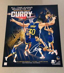 Stephen Curry signed Warriors autographed 16x20 Fanatics NBA photo (JSA & USASM)