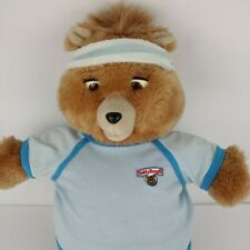 Vtg Teddy Ruxpin 1985 Worlds Of Wonder with Tunic & Blue Workout Outfit