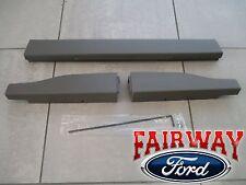 11 thru 16 Ford F250 F350 OEM Ford Flex Step Tailgate Molding 3pc Set King Ranch