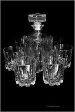 Borgonovo Italian 7 Piece Large Crystal Wine Whiskey Decanter Set with 6 Glasses