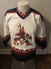 Vintage 90s Phoenix Coyotes Jersey Youth Hockey Size Large Extra CCM  Throwback 172839898