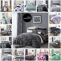 DUVET COVER BEDDING SET WITH 2 PILLOWCASES/FITTED SHEET SINGLE DOUBLE KING SIZE