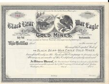 BLACKBEAR-WAR EAGLE GOLD MINES INC....(WASHINGTON)...UNISSUED STOCK CERTIFICATE
