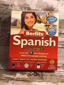 Novatel Berlitz Spanish Premier for PC, Mac Yo Hablo   Espanol  8 CDs Set