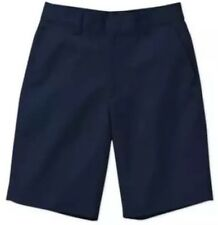 Boys' Navy Flat Front 'George' Shorts, School Uniform Size 4 W/Adj Waist Nwt!