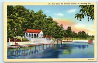 Russ Pool Infantry School Ft Fort Benning Georgia GA Vintage Postcard B07