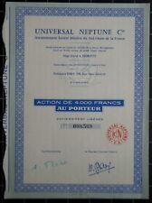 Universal Neptune Cie - Action de 4000 frs au porteur