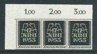 Luxus Berlin Michel-Nr. 110 als 3er Einheit - Ecke 1 ** postfrisch