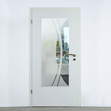 Verglasung Glaseinsatz für Holztüren Klarglas mit Dekor Lichtausschnitt