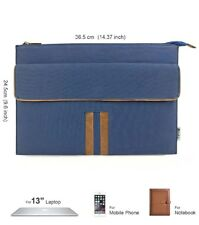 13-13.3 Inch MacBook Air/Pro Retina Laptop Sleeve Canvas PU Leather Carrying