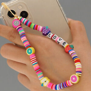 Disc Beads Crystal Chain For Phone Lanyard Phone Chains LOVE Letter Wristb XMAP