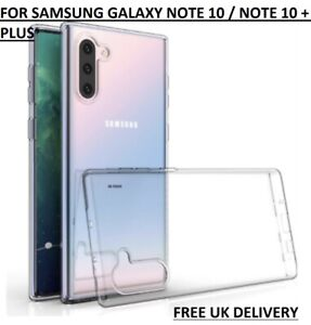 Case for Samsung Galaxy Note 10 Plus Clear Silicone GEL Ultra Slim TPU Cover