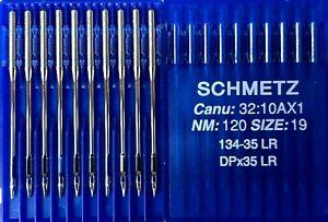 SCHMETZ DPX35LR 134-35LR CANU32:10AX1 NM120/19 INDUSTRIAL SEWING MACHINE NEEDLE