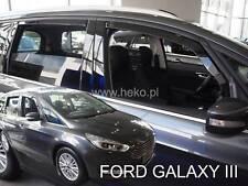 Ford Galaxy III 5 door 2015-up wind deflectors 4pc set TINTED HEKO