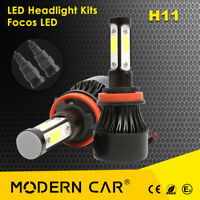 160W 16000LM H8 4-Sides CREE LED Headlight Bulbs Hi/Lo Beam Replace HID Halogen