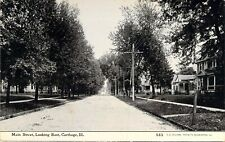 Main Street, Looking East, Carthage, Ill., Posted 1910