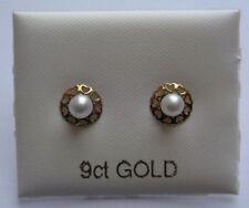 Pearl Not Enhanced Yellow Gold Fine Earrings
