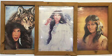 3 Framed Young Girl Poster Prints by A. Johnson/Jonnie K./M. Caroselli