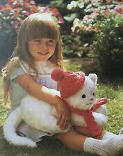 SEWING PATTERN Jean Greenhowe Cuddly Kitten Toy Doll Hat Scarf Knitted 35.5cm