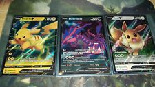 Pokemon 3 Carte Promo Pikachu V 063 + Ethernatos V 064 + Evoli V 065