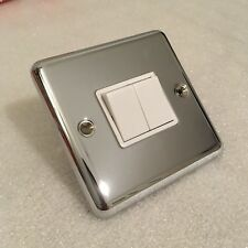 NEW 2 gang polished chrome, 6 amp light switch by MK Electric