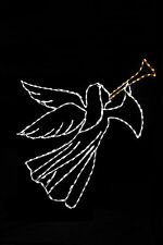 Single Heralding Angel LED metal wire frame light yard lawn display