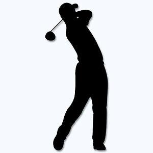 Golfer Aufkleber Golf Sport Sticker Golfspieler m414