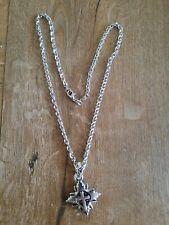 Kette Edelstahl mit Kreuz, neuwertig, 30 cm Länge