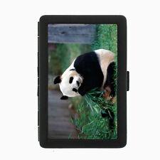 Panda Cigarette Case D5 Metal Wallet Giant Bear Black and White Cute Fluffy Rare