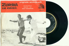"MIKIS THEODORAKIS Zorba de Griek OST 1965 HOLLAND PS EX+ VINYL SINGLE  7"""
