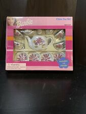 Vintage 2000 Barbie 13 Piece China Tea Set Mattel