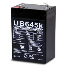 UPG 6V 4.5AH SLA Battery replaces cp0660 gp645 lcr6v4p hk-3fm4.5 wp4-6